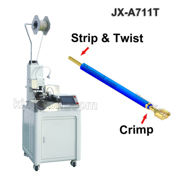 Single Head Wire Crimping Machine With Tail Stripping and Twisting