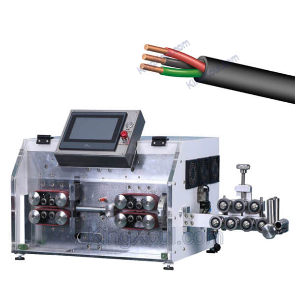 Multi core wire cutting stripping machine