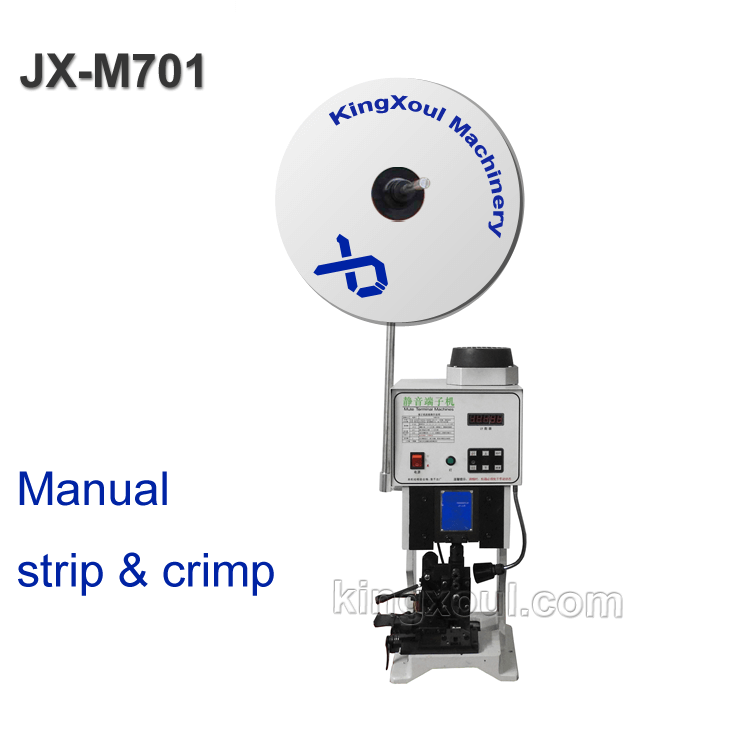 manual stripping and crimping machine