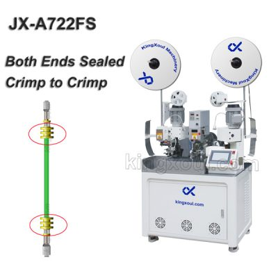 Both ends Seal Insertion Wire Crimping Machine