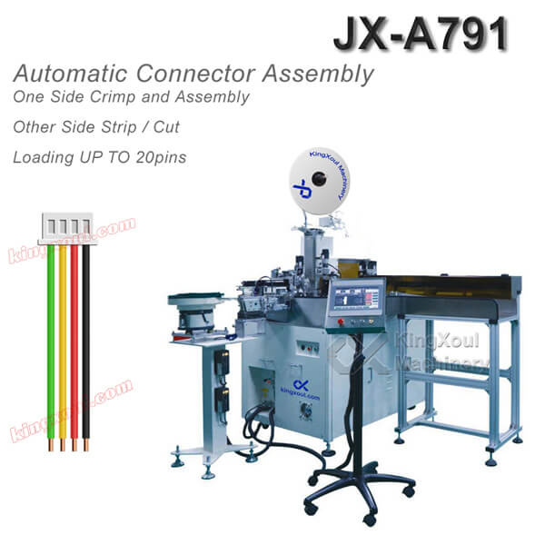 Cable Assembly Machine with Wire Crimping Terminal Inserting Into Connector