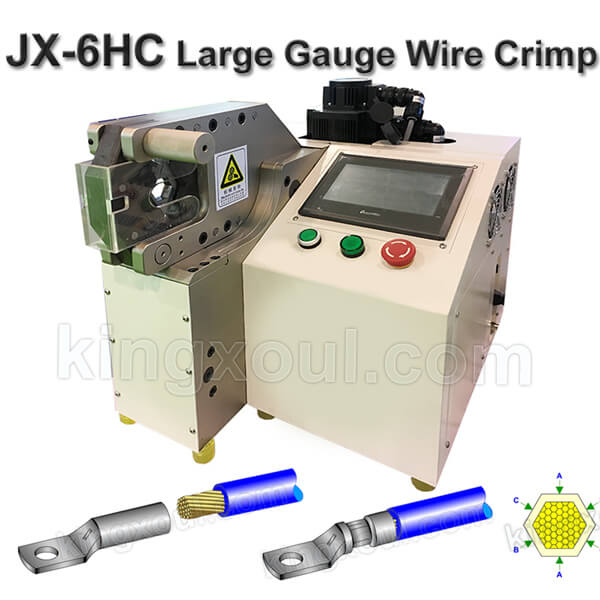 Large Guage Wire Battery Cable Crimping Machine