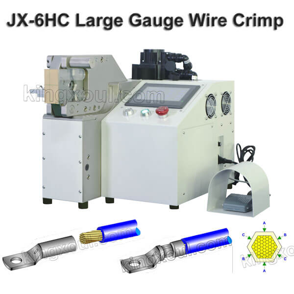 Large Guage Wire Hexagon Terminal Crimping Machine