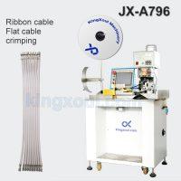 Semi automatic ribbon cable stripping crimping machine