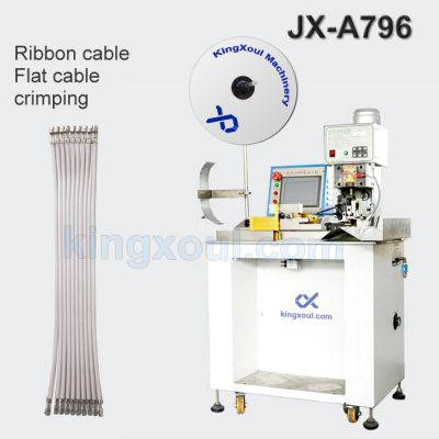Semi automatic ribbon cable stripping crimping machine