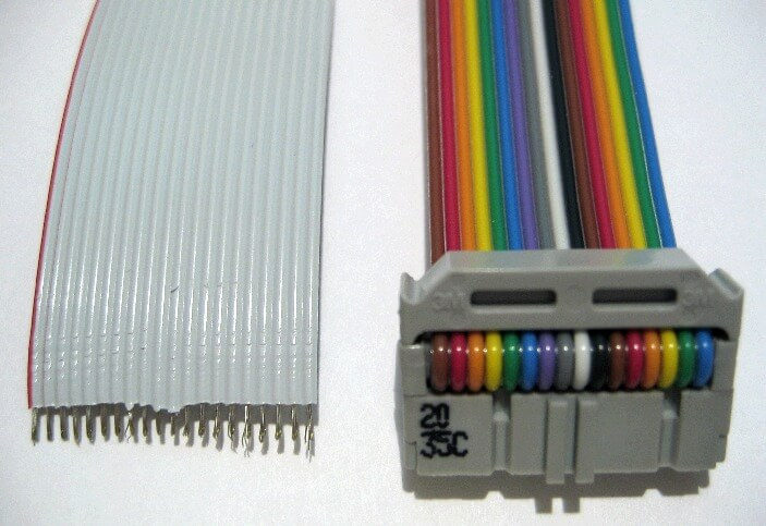 ribbon cable stripped and crimped