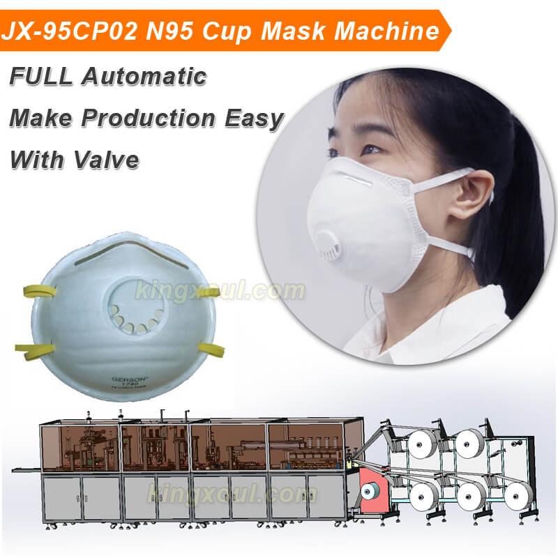 JX-95CP02-N95-Cup-Mask-Machine