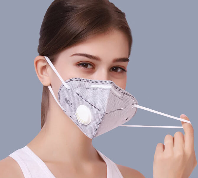 N95 Face Mask Foldable with Valve